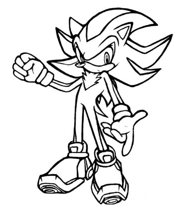 Shadow The Hedgehog Coloring Pages 2 To Page