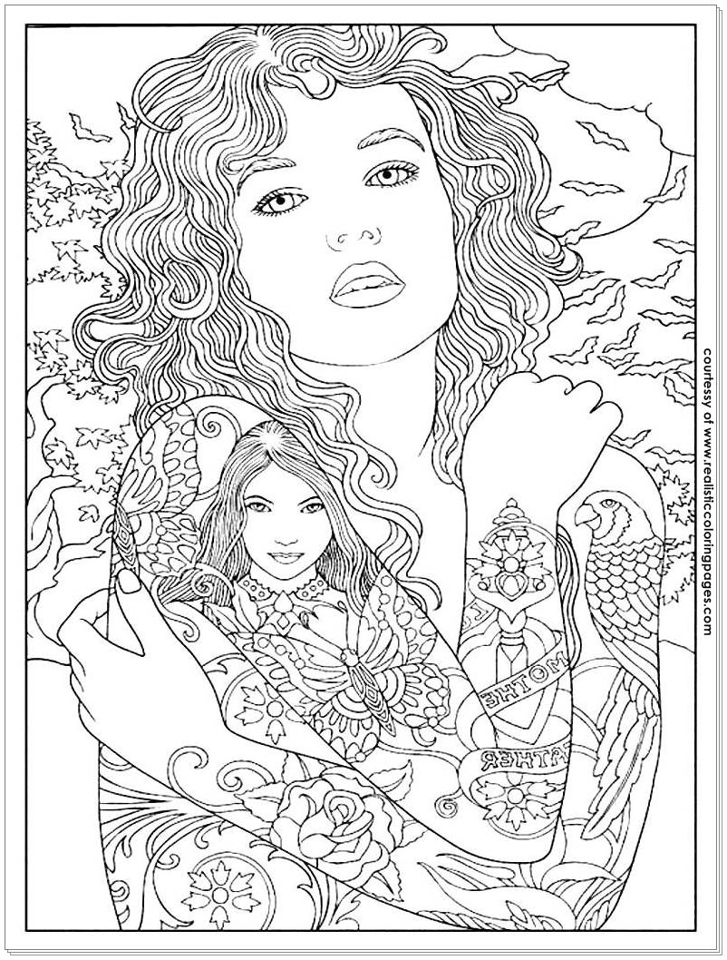 Coloring Pages Tattoo Designs