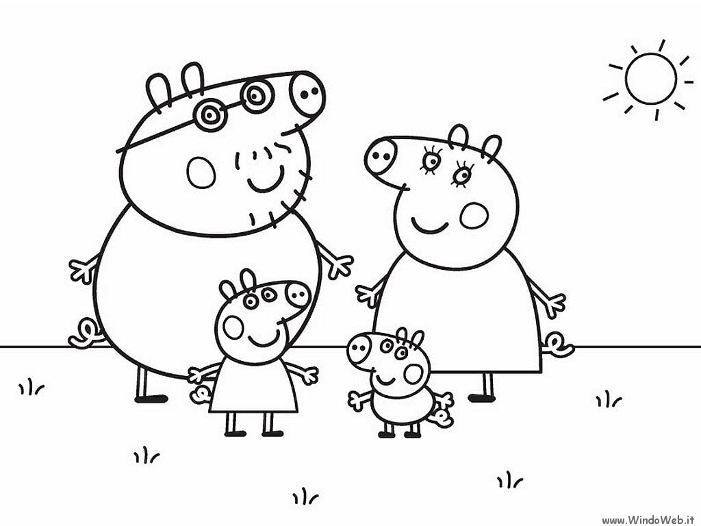Great Free Coloring Pages Of Peppa Pig Peppa Pig Coloring Pages