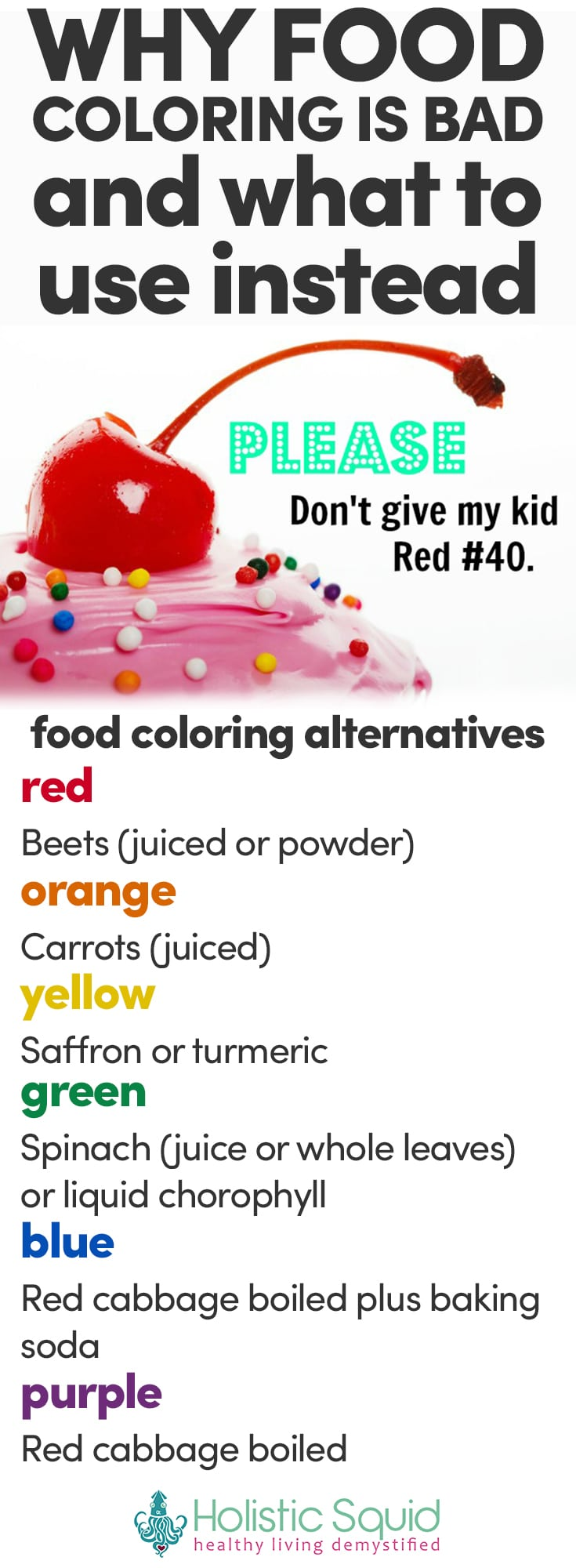 Why Food Coloring Is Bad & What To Use Instead