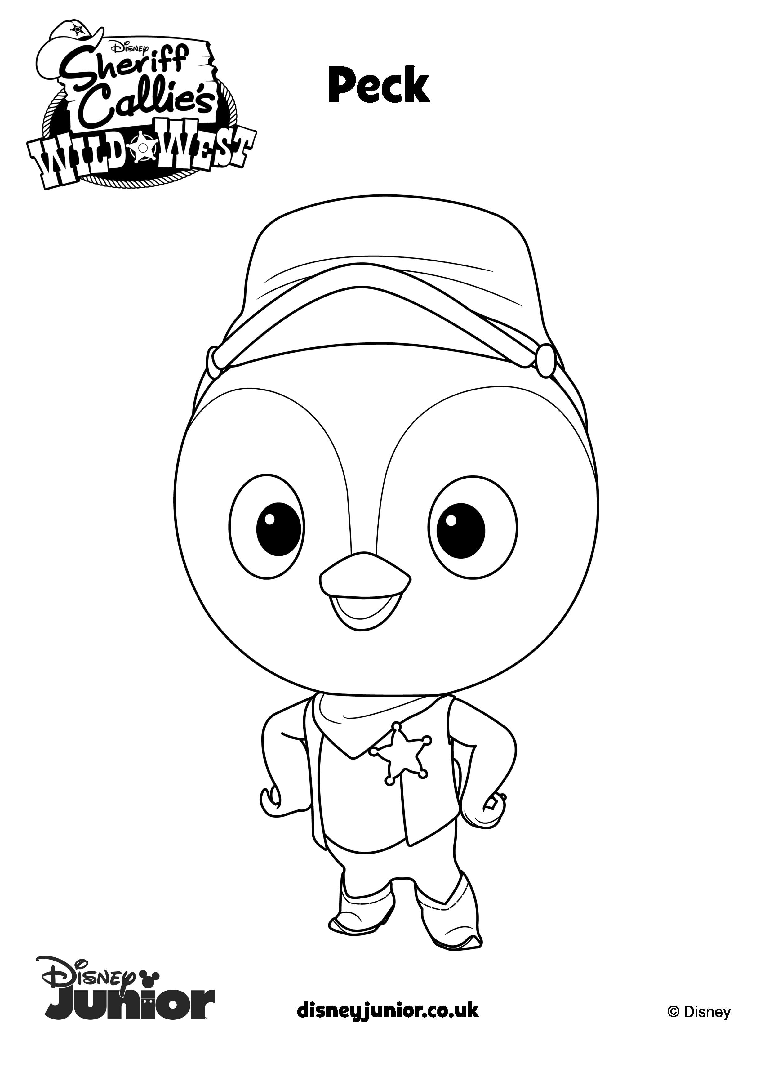 Incridible Sheriff Callie Coloring Pages In With Hd Resolution
