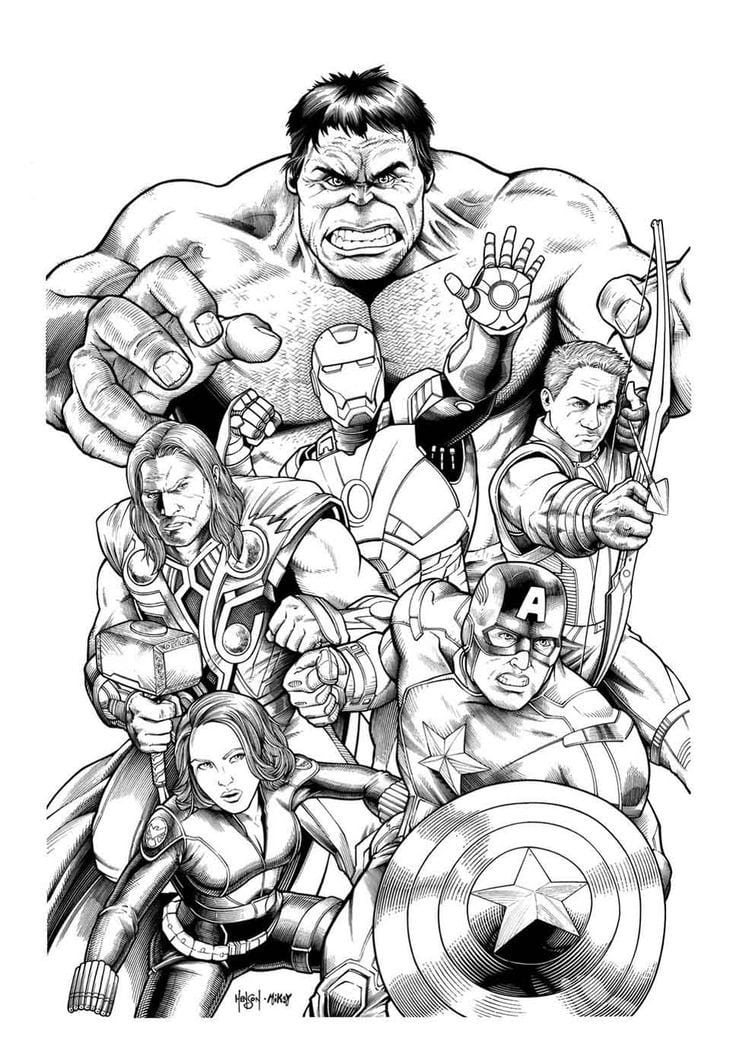 Inspirational Marvel Coloring Books