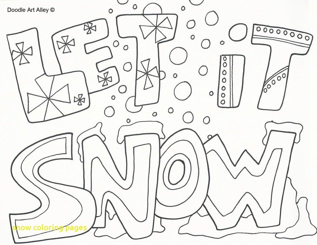 Let It Snow Coloring Pages  10587