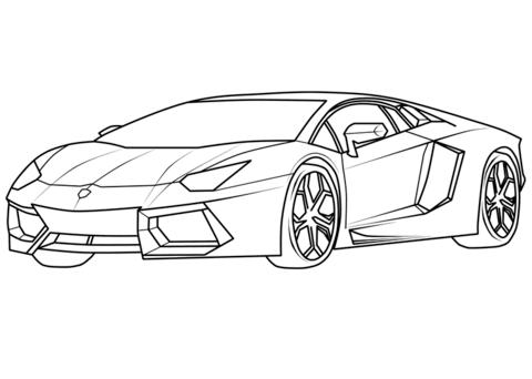Lamborghini Coloring Pages Lamborghini Coloring Pages Free