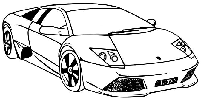 Lamborghini Coloring Pages Pictures To Print Lamborghini Coloring