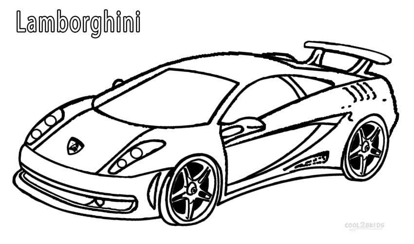 Lamborghini Coloring Pages Printable Lamborghini Coloring Pages