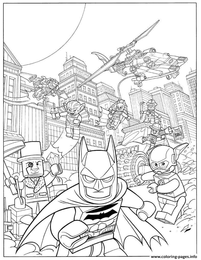 Lego Movie Coloring Pages Pdf Best Of Copy Batman Fash Action 2017
