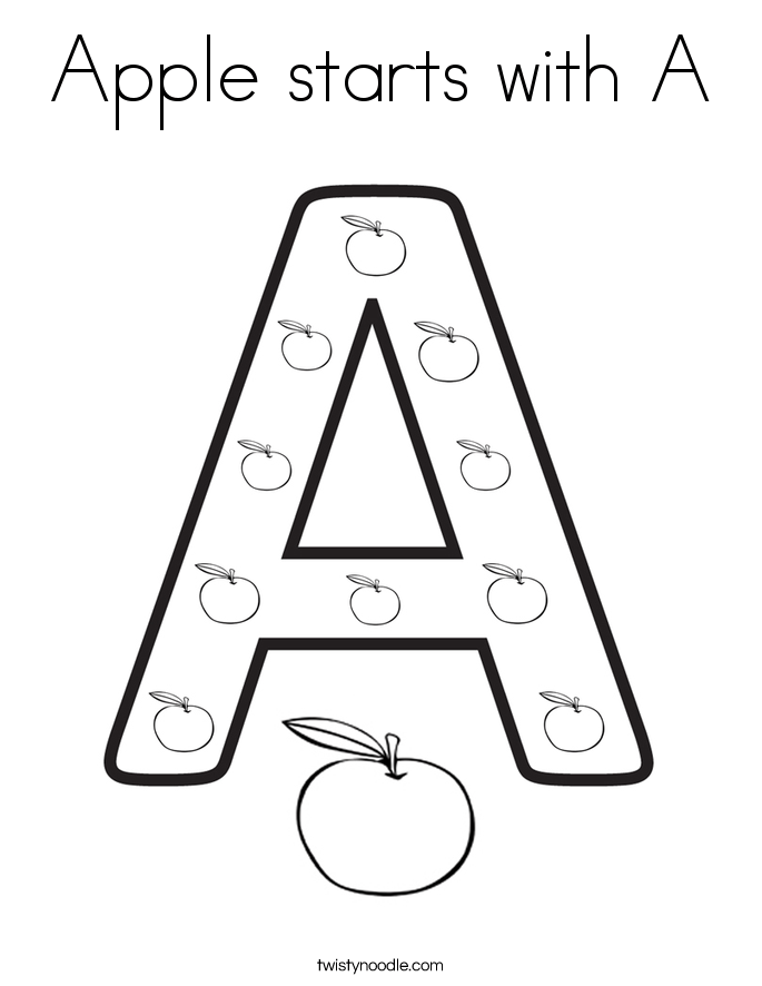 Letter A Coloring Pages For Toddlers Popular Letter A Coloring