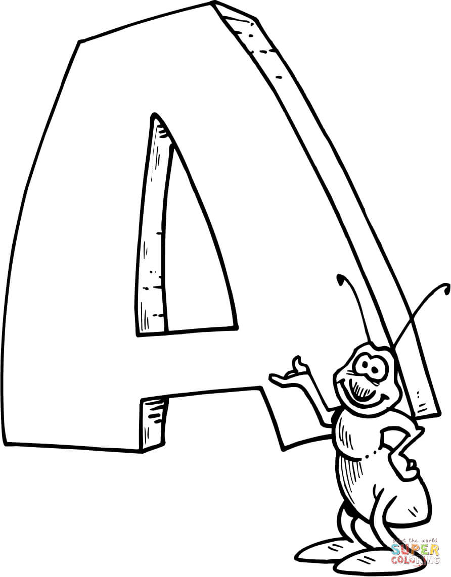 Letter A Coloring Pages Free Best Of