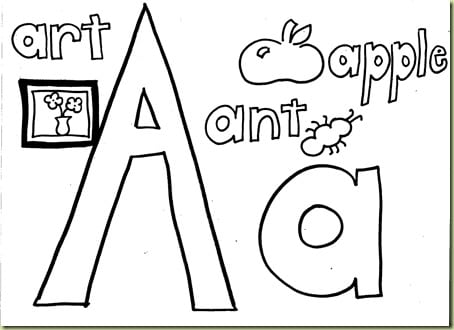 Letter Coloring Pages For Toddlers Awesome Letter A Coloring Pages