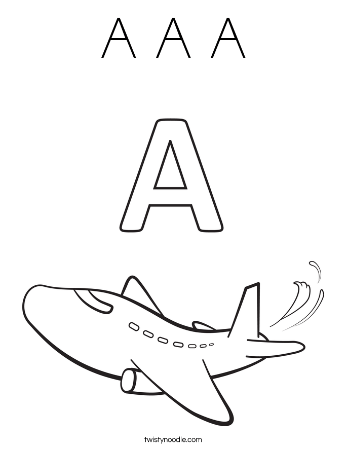 Letters Perfect Letter A Coloring Pages For Toddlers