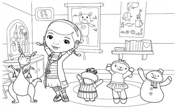 Peachy Coloring Pages For Doc Mcstuffins Holidayvillas Co