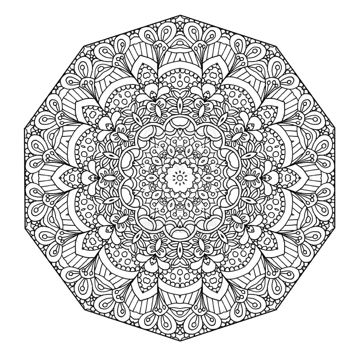 Mandala Coloring Page Pages Advanced Level Dringrames Org