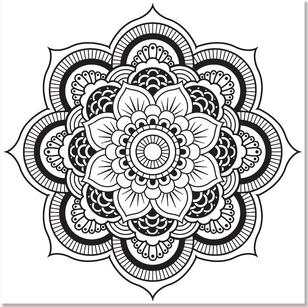 Mandala Designs Coloring Book (31 Stress