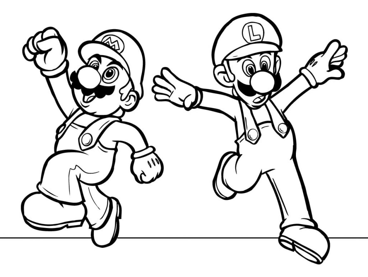 Mario Character Coloring Pages Print Epic Free Coloring Pages For