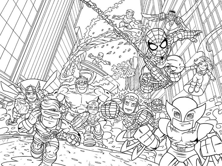 Index Htm Perfect Marvel Coloring Book