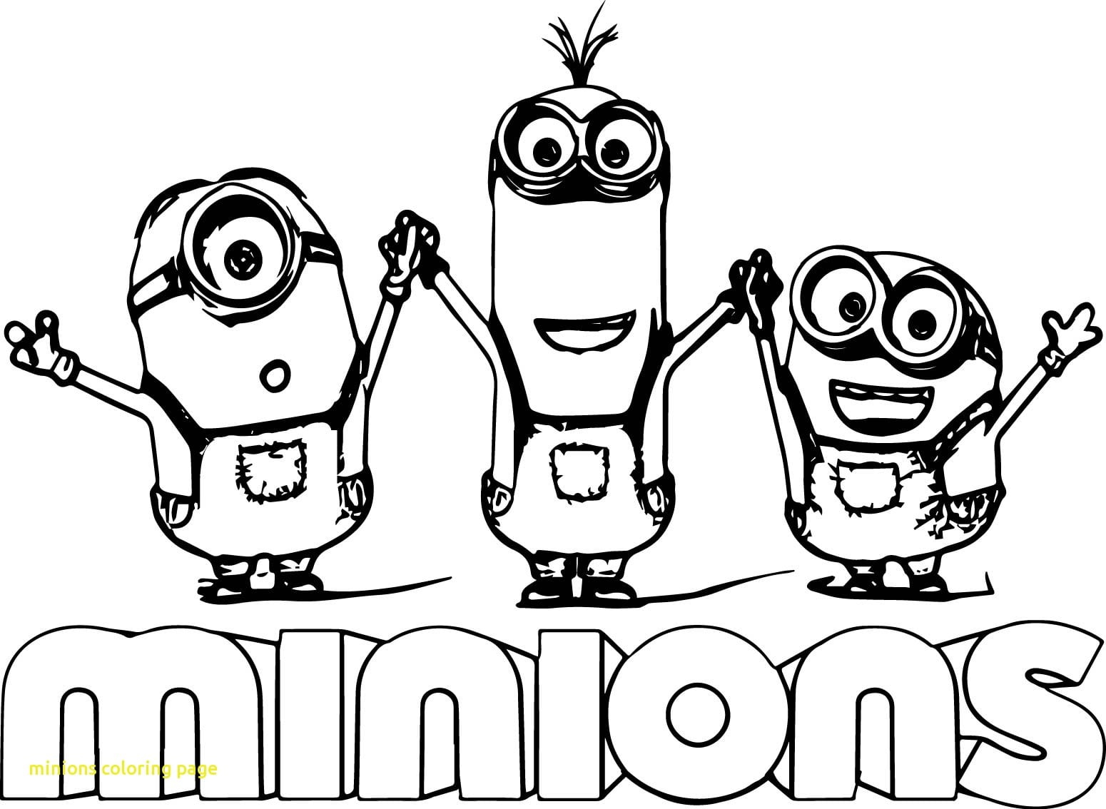 Marvelous Design Minions Coloring Pages Minions Coloring Page With