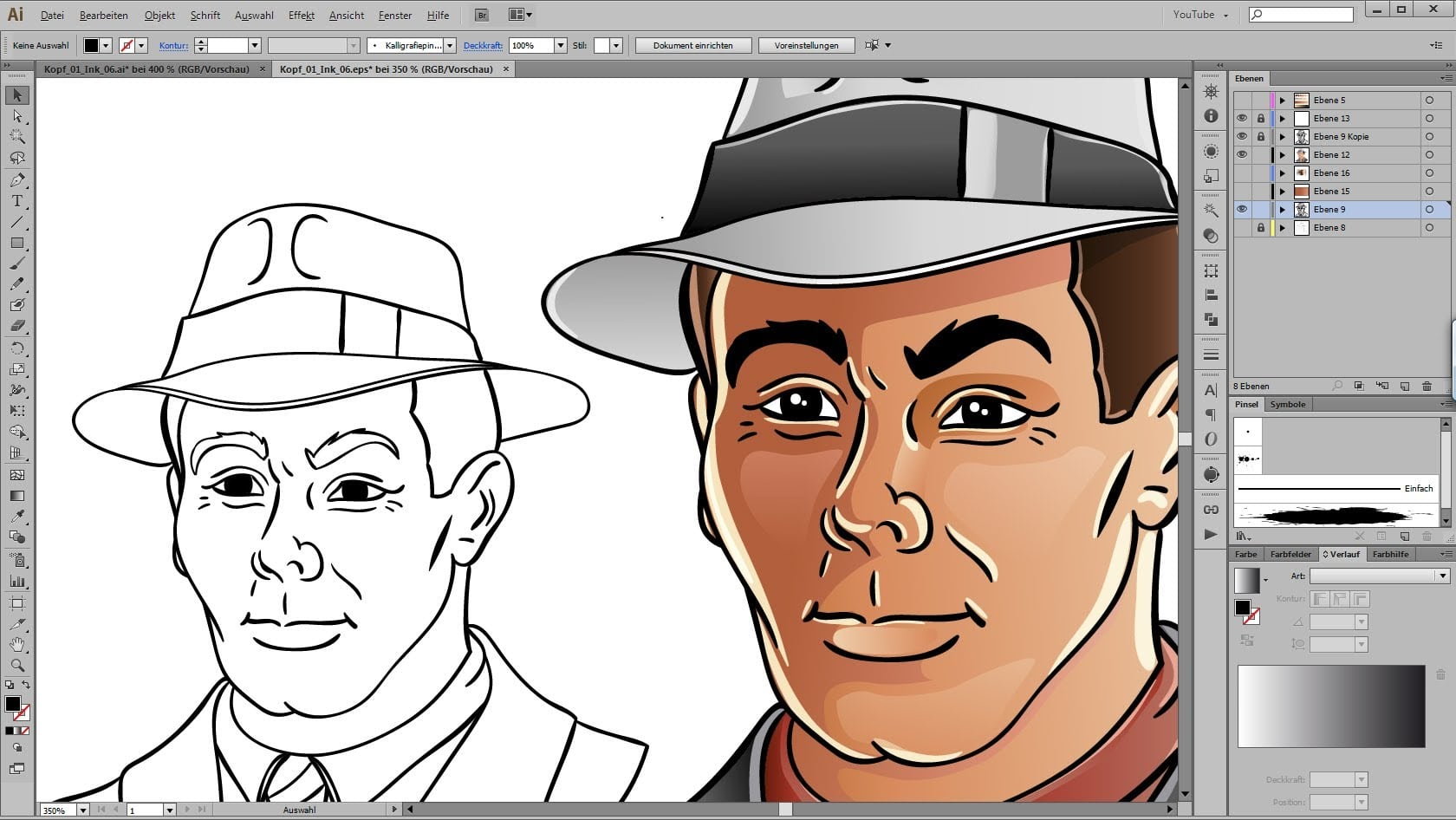 Drawing And Coloring Tutorial For Adobe Illustrator