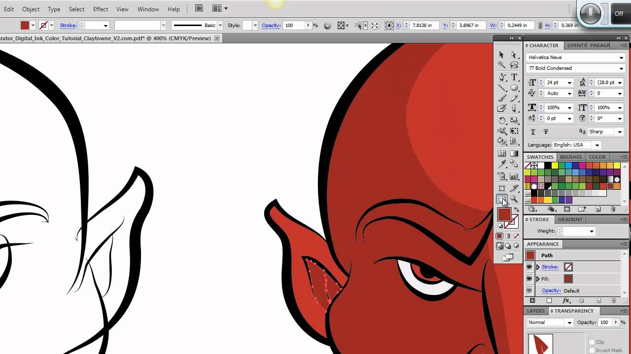 Ultimate Inking And Coloring Tutorial For Adobe Illustrator (short