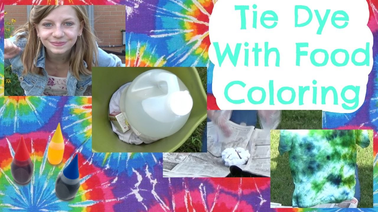 Tie Dye With Food Coloring