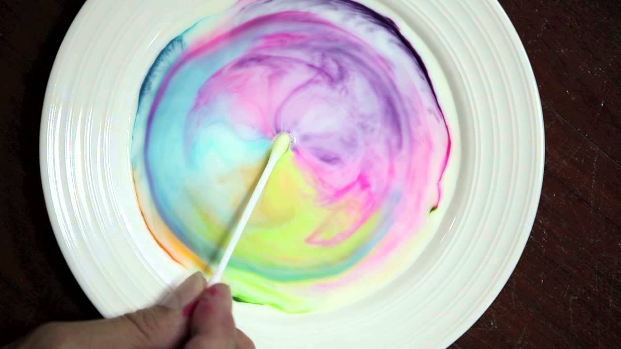 Science Fun With Milk, Food Coloring And Dish Soap
