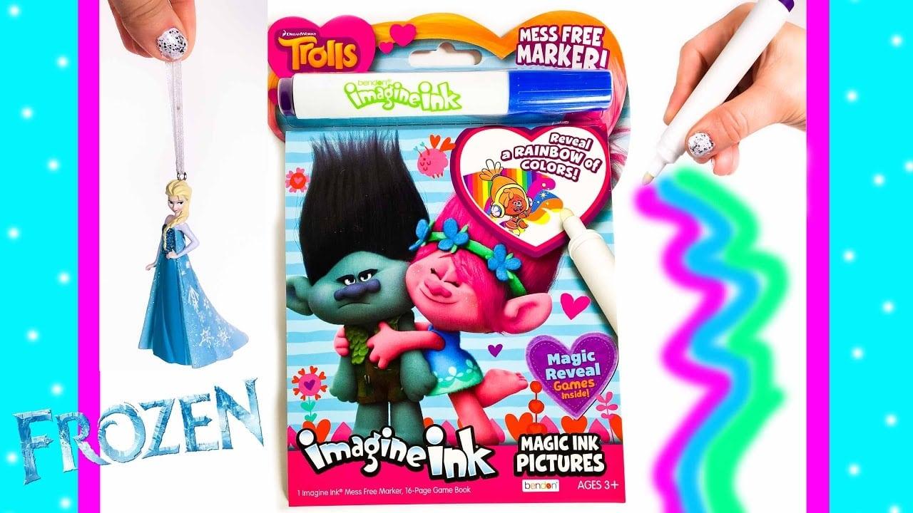 Trolls Imagine Ink Magic Marker Art Coloring Book