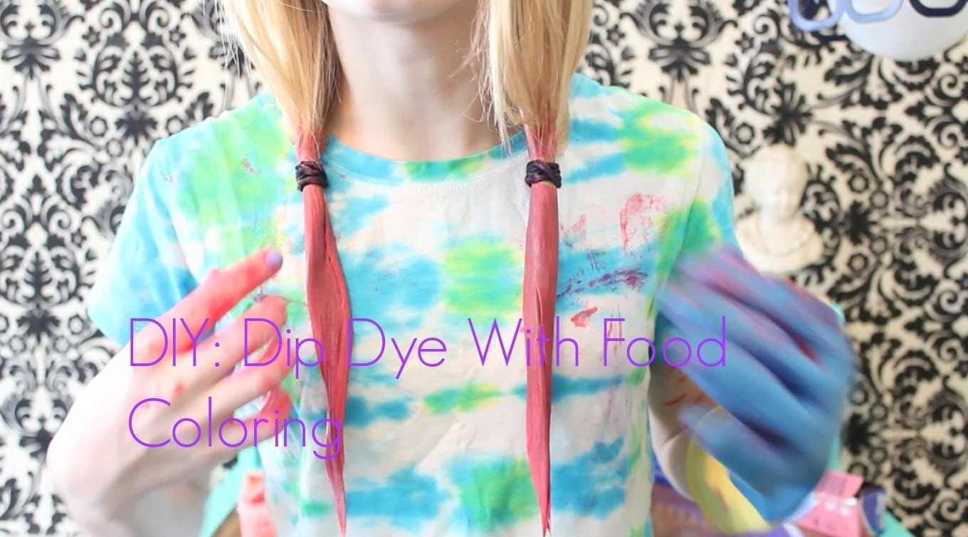 Diy!⎜ Dip Dye With Food Coloring☀