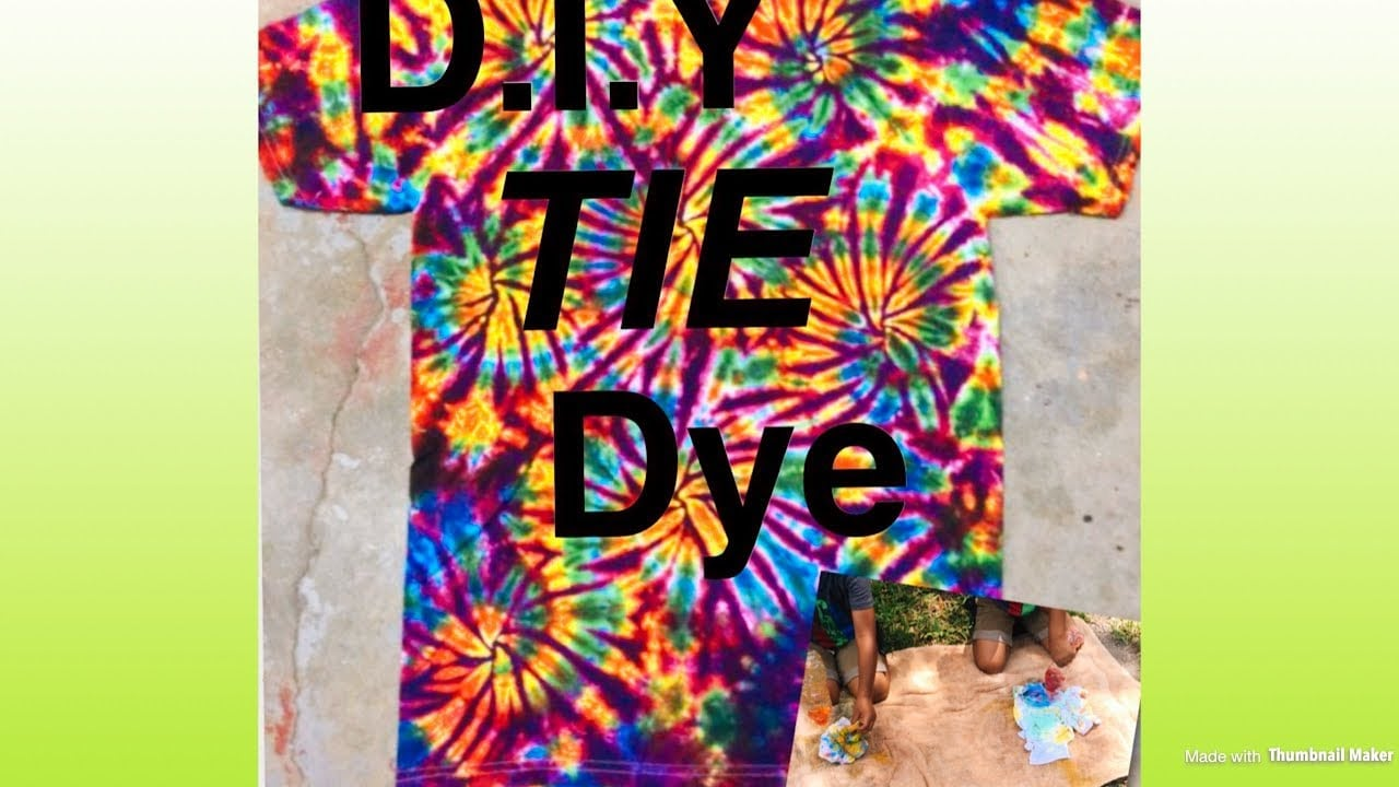 Diy Tie Dye Shirts With Food Coloring (do It Yourself)
