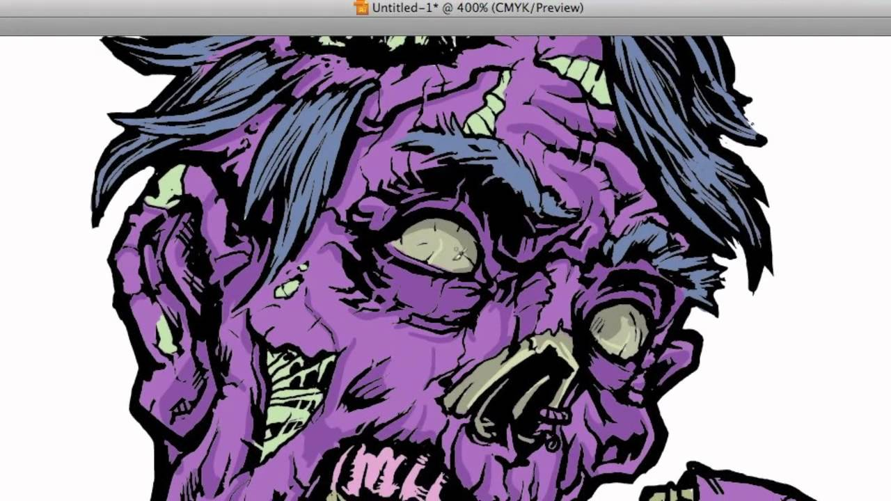 Zombie Vector Coloring In Illustrator Part 2