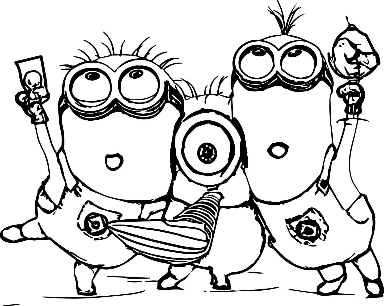 Minions Color Pages With Wallpaper Picture