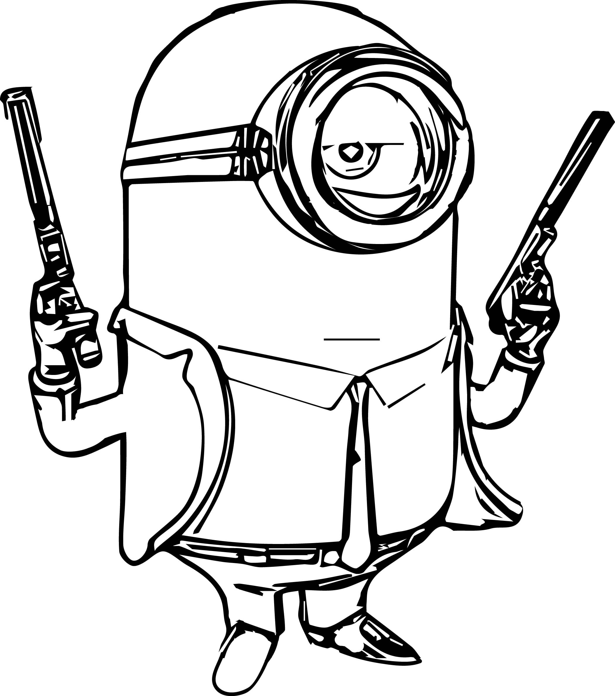 Modest Decoration Minions Coloring Pages Minions Coloring Pages