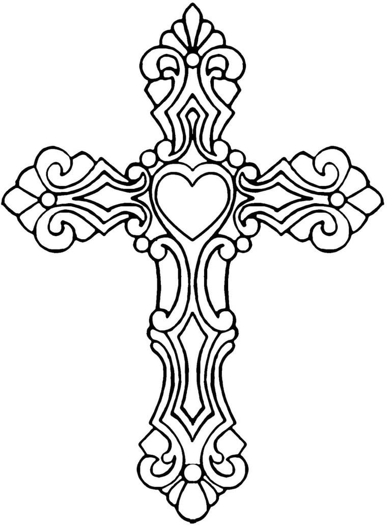 Monumental Cross Coloring Sheets Pages Montenegroplaze Me For