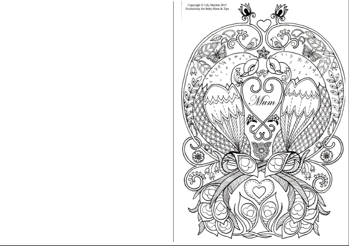 Mothers Day Colouring In