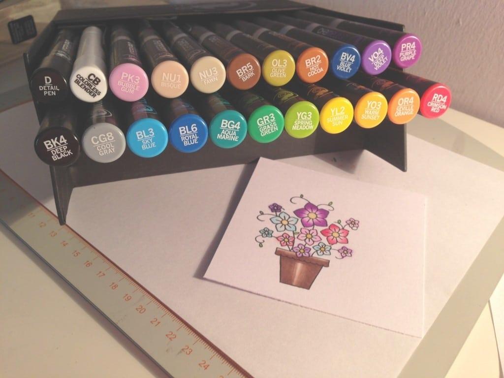 Nice Colouring Using Chameleon Pens (tutorial)