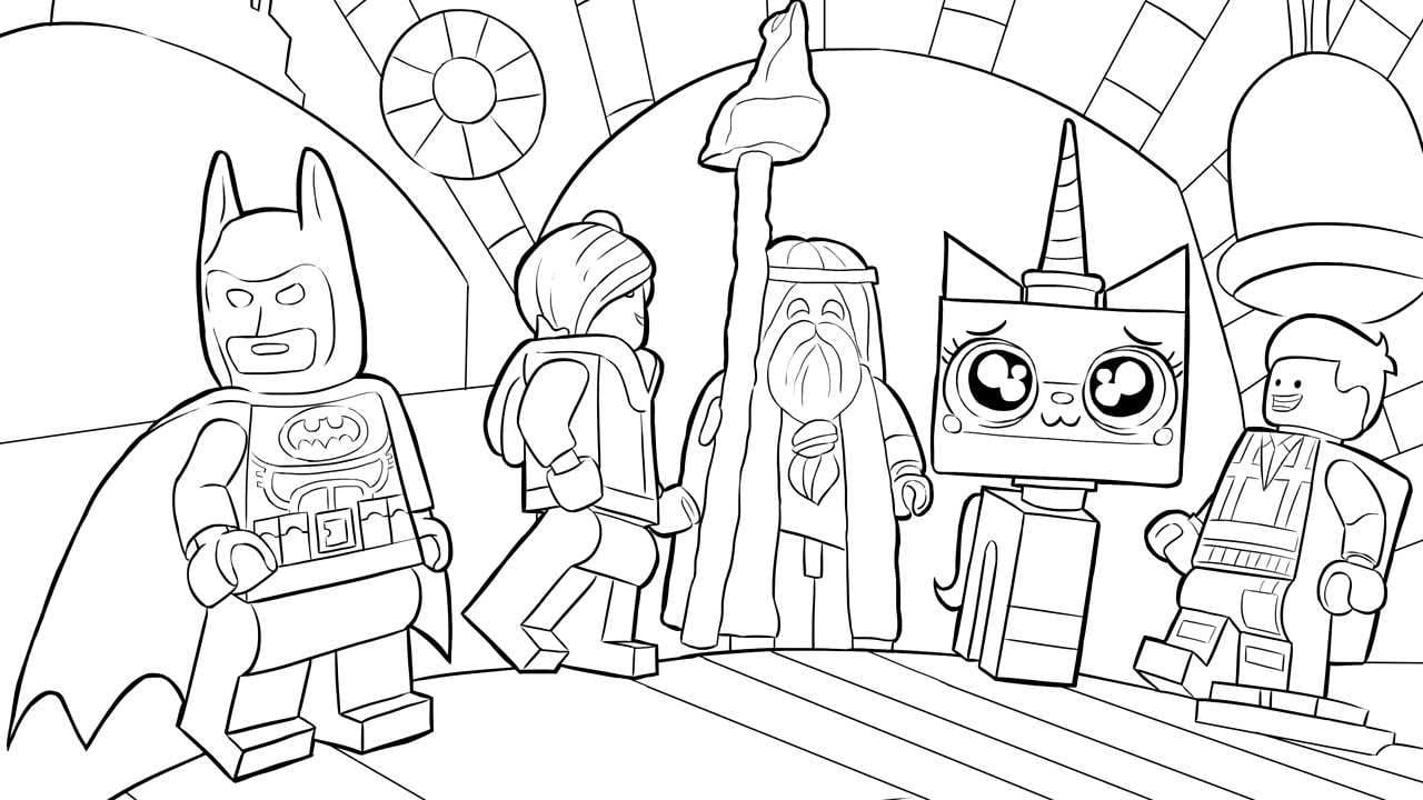 Nice Design Coloring Page Lego 10 Lego Movie Coloring Pages