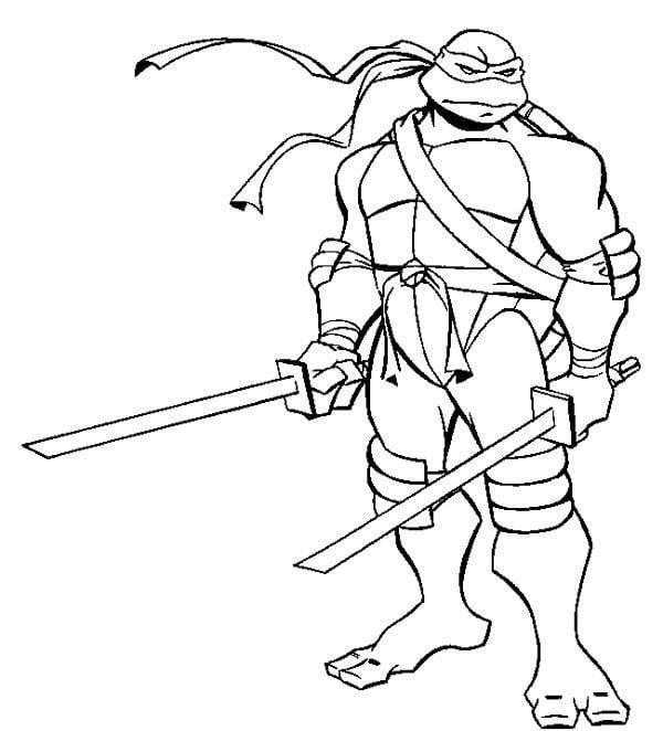 Vintage Ninja Turtle Coloring Book