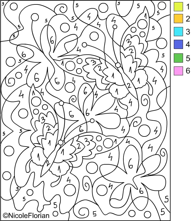 Number Coloring Pages Octopus Color By Number Coloring Page