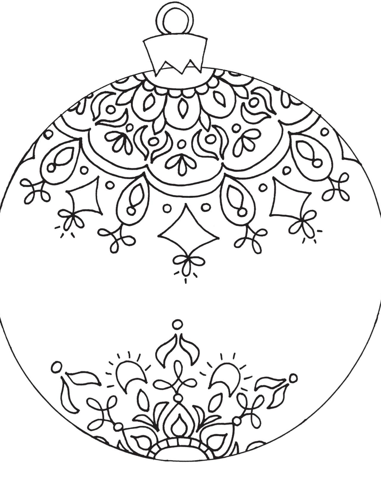 Ornament Coloring Page Christmas Pages Free 5647 Celebrations