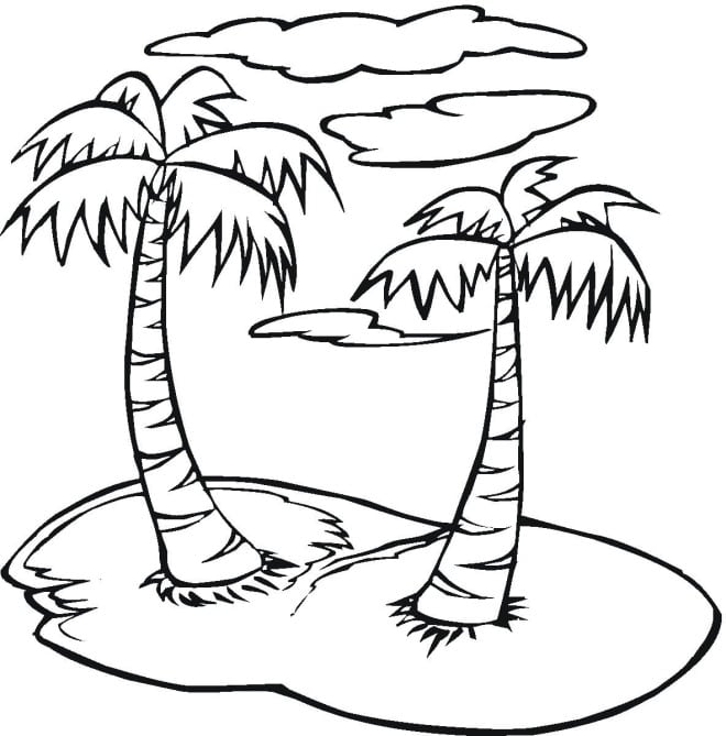 Palm Tree Coloring Pages  2816