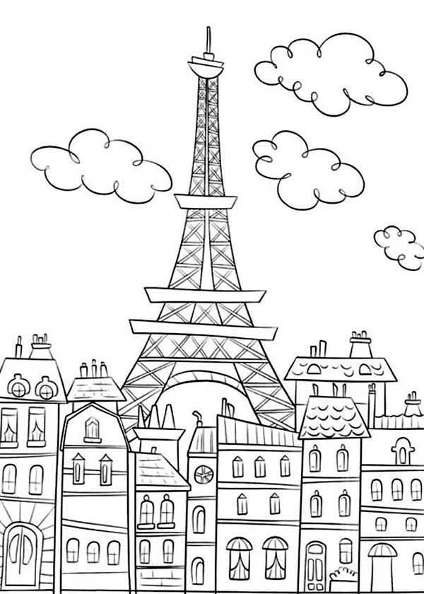 Paris Coloring Pages Paris Coloring Pages 1000 Ideas About Paris