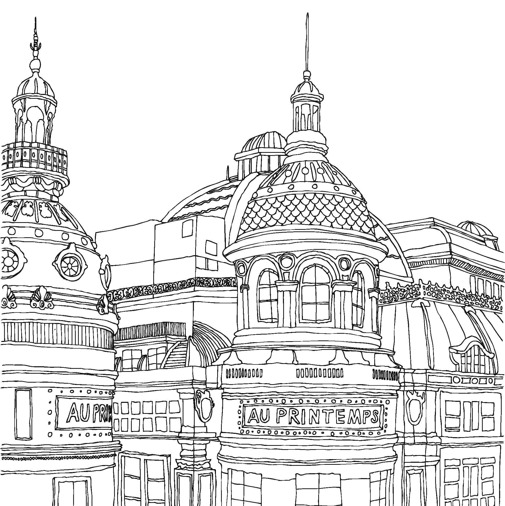 Paris Coloring Pages With Wallpaper Hd For Iphone