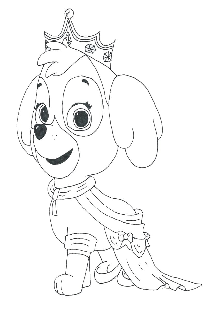 Paw Patrol Coloring Pages Birthday Printable For Skye Glum Me