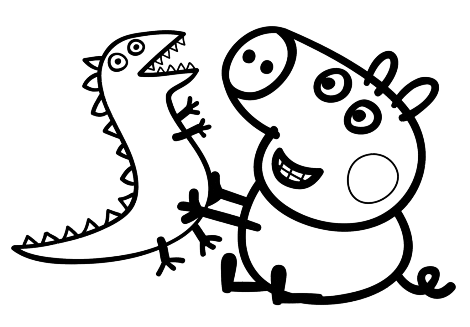 Peppa Pig Coloring Page Great Pages Birthday