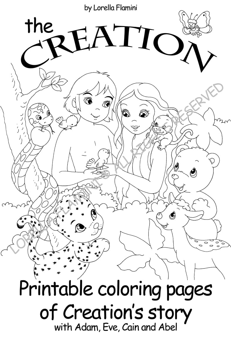 Perfect Day 6 Creation Coloring Page Obsession Sheets Bible Pages