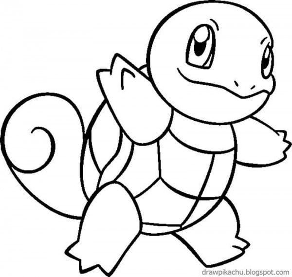 squirtle coloring page