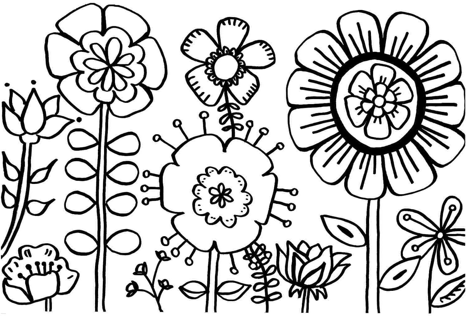 Perfect Spring Coloring Page 64 With Additional Seasonal Colouring