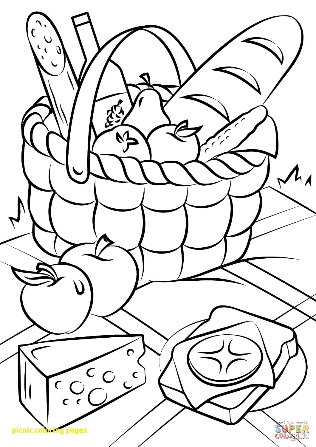 Picnic Coloring Pages Free Inside