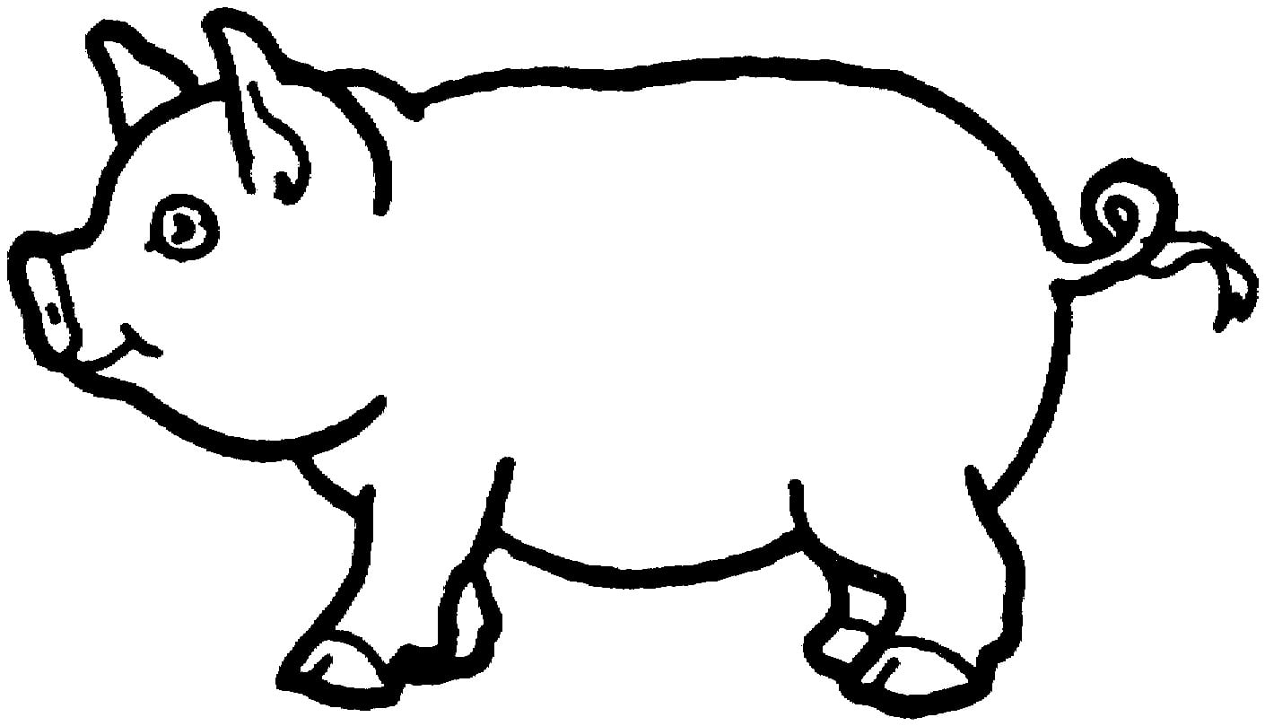 Pig Coloring Page In Beatiful Photo Kids Pages