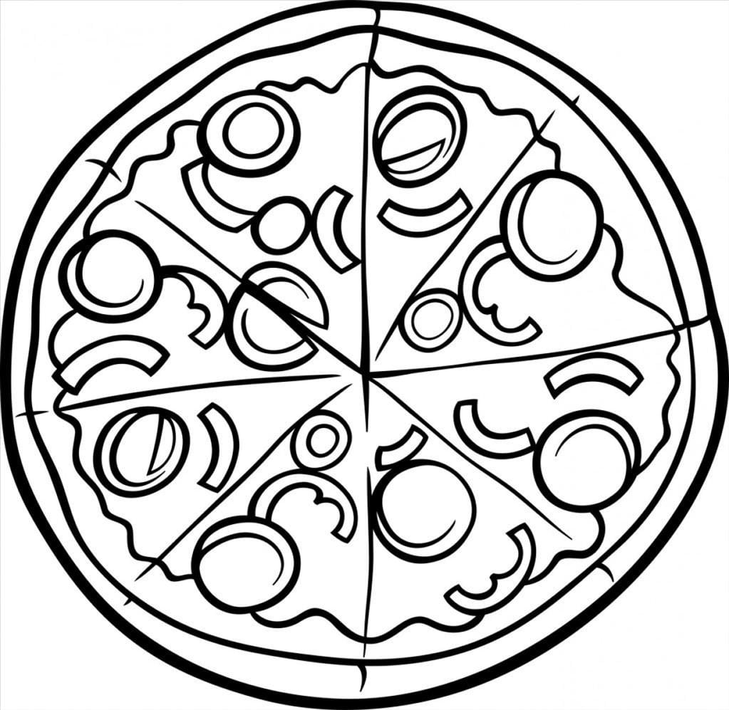 Pizza Coloring Pages Endorsed Pizza Coloring Pages 3 Of Coloring
