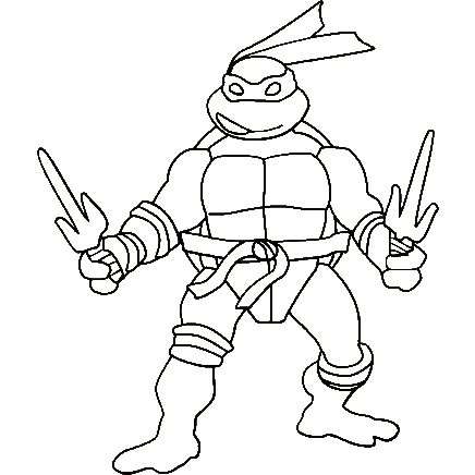 Delightful Design Ninja Turtle Coloring Pages Turtle Coloring Book